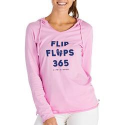Womens Flip Flops 365 Hooded Sweater