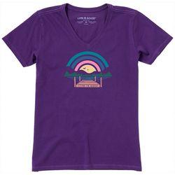 Life Is Good Womens Sunset Pier Crusher T-Shirt