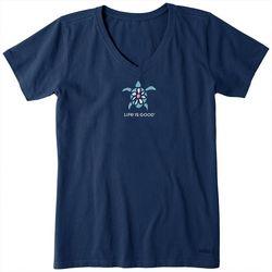 Life Is Good Womens Sea Turtle Crusher T-Shirt