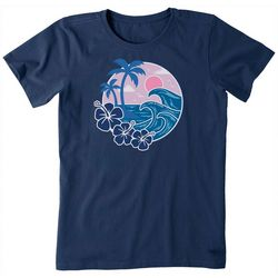 Life Is Good Womens Big Waves Crusher T-Shirt