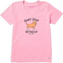 Life Is Good Womens Don't Stop Retrievin' Crusher