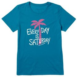 Life Is Good Womens Every Day Is Saturday Cool T-Shirt