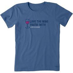 Life Is Good Womens Love The Wine Crusher T-Shirt