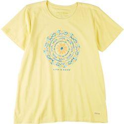 Life Is Good Womens Flower Of Power Crusher T-Shirt