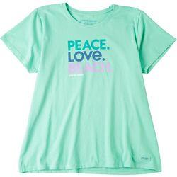 Life Is Good Womens Peace. Love. Beach. T-Shirt
