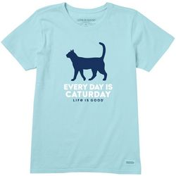 Life Is Good Womens Caturday T-Shirt