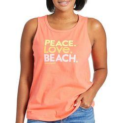 Life Is Good Womens Peace. Love. Bech Tank Top