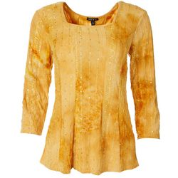 Sami & Jo Womens Embellished Sweetheart Blouse