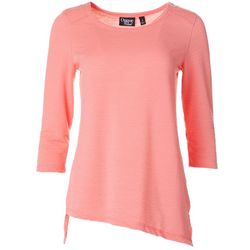 Thomas & Olivia Womens Tunic Textured Top