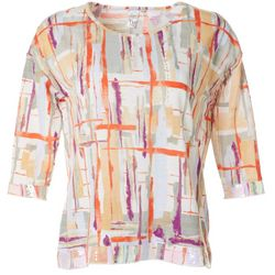 Thomas & Olivia Womes Printed Cotton Slub Top