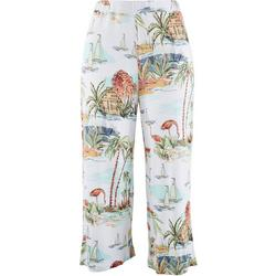 Womens Pull On Vacation Crop Pants