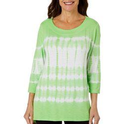 Thomas & Olivia Womens Tye Dye Jersey Knit Top