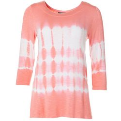Onque Casual Womens Tie Dye Tunic Top