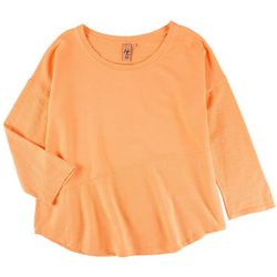 Hot Cotton Womens Solid Scoop Neck 3/4 Sleeve Top