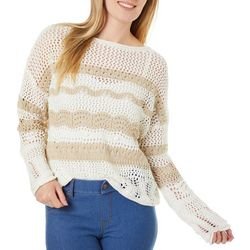 Beach Lunch Lounge Womens Crochet Round Neck Sweater