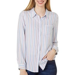 Beach Lunch Lounge Womens Striped Long Sleeve Top
