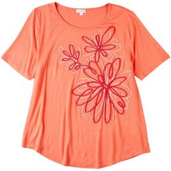 Cabana Cay Womens Short Sleeve Floral Top