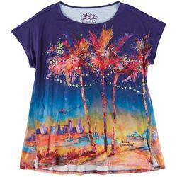 Leoma Lovegrove Womens Tropical Print Top