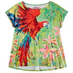 Leoma Lovegrove Womens Tropical Parrot Printed Top