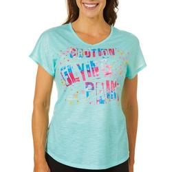 Womens Caution Flying Paint Top
