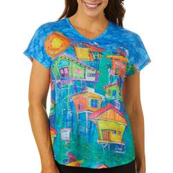 Leoma Lovegrove Womens Manatee Viewing Area Top