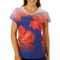 Leoma Lovegrove Womens Showtime Hibiscus Print Top