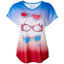 Leoma Lovegrove Womens Sunshack Print Dolman T-Shirt