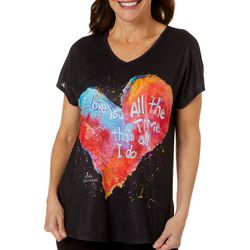Leoma Lovegrove Womens I Love You Dolman T-Shirt
