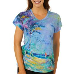 Leoma Lovegrove Womens Solo Beach Scene Design Top