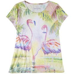 Flamingos In The Jungle Top
