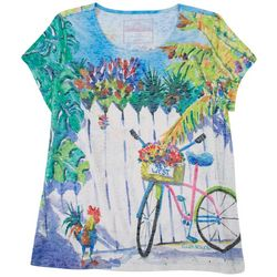 Art & Sol By Ellen Keywest Printed Top