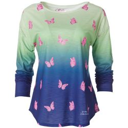 Leoma Lovegrove Womens Butterfly Kisses Ombre Top