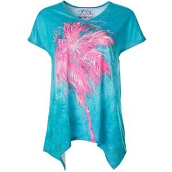 Leoma Lovegrove Womens Palm Tree Hugger Short Sleeve Top