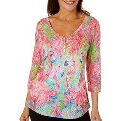 Leoma Lovegrove Womens Pink Power Burnout Top