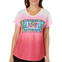 Womens Glamper Ombre Top