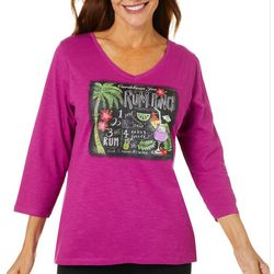 Caribbean Joe Womens Tropical Rum Punch Top