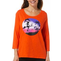 Caribbean Joe Womens Tropical Witch Top