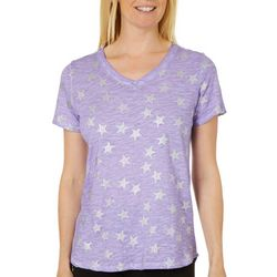 Sunsets and Sweet Tea Womens Metallic Starfish T-Shirt