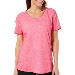 Womens Coastal Wash Pocket T-Shirt