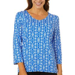 Sunsets and Sweet Tea Womens Geometric Print Top