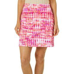 Sunsets and Sweet Tea Womens Batik Print Pull On Skort