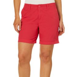 Caribbean Joe Womens Solid Twill Shorts