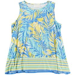 PAPPAGALLO Womens Tropical Print Sleeveless Top