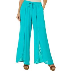Hailey Lyn Womens Gauze Wide Split Leg Pants