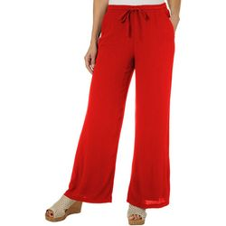 Hailey Lyn Womens Solid Gauze Pants