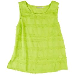 Hailey Lyn Womens Solid Textured Tank Top