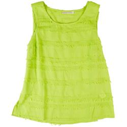 Womens Solid Textured Tank Top