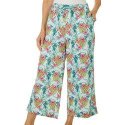 Caribbean Joe Womens Summer Wide Leg Fabric Pants