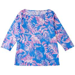 Womens Whimsical Boat Neck Top