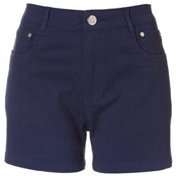 Womens Solid Cotton Shorts